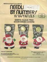 Needlecraft Ala Mode SANTA CLAUS TRIO Door Knob Covers Pattern & Instruc... - $5.99