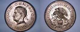 1944 Mexican 5 Centavo World Coin - Mexico - $11.99