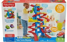 Fisher Price Little People City SKYWAY take turns Ramp Tower 3 Ft One Car Mint - $59.40