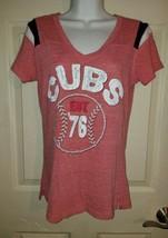 MLB Chicago Cubs Women's T-Shirt Raised Logo/Lettering Size Medium - $22.77