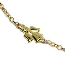 Bracelet Yellow Gold 18K 750, Baby Girl, Plate, Angel, Length 16.5 CM image 2