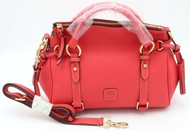 NWT Dooney & Bourke Raleigh Geranium Leather Small Satchel Shoulder Bag New $368 - $248.00