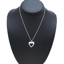 "Tiffany & Co. Twist Heart Necklace 16"" Silver 925 - $167.31"