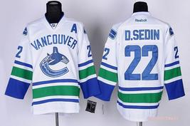 Swen Logo Vancouver Canucks 22 Daniel Sedin White Ice Hockey Jerseys - €42,46 EUR