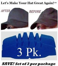 3Pk. Caps Crown Insert| Fitted Caps Support| Hat Liner Shaper | Hat Stor... - $11.25