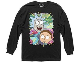 Rick and Morty Ripple Junction Jungle Warp Faces Long Sleeve Sizes XL, XXL - $19.95