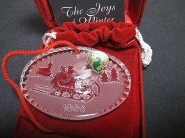 Waterford crystal  1999 Christmas ornament  - $27.12