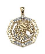 Men's Diamond Accent 10k Yellow Gold Eagle Pendant - $299.82