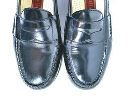 Cole Haan Mens Black Moc Toe Pinch Penny Leather Loafer Slip-on Shoes Size 9.5 image 12