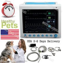 FDA US Seller Veterinary Patient monitor VET Vital Signs ECG NIBP SPO2 R... - $494.01