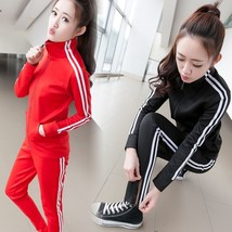 Women's Striped Patchwork Two piece Lounge Tracksuits Jog Sets Sport Suits - $43.86