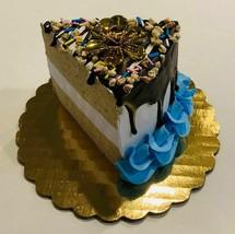 Fake Piece Cake Slice Birthday Cake Slice w/ Candle Holder - $19.79