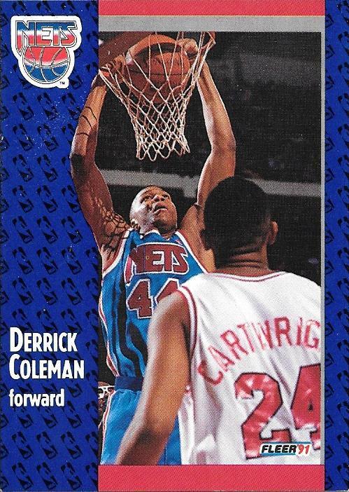 Derrick Coleman ~ 1991-92 Fleer #130 ~ Nets