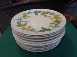 VERNON WARE by Metlox VINEYARD Made in California  Set of 11 DINNER Plates - $49.09