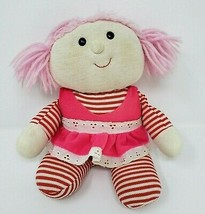 VINTAGE 1979 RUSS BERRIE MUFFY PINK HAIR BABY RAG DOLL STUFFED ANIMAL PL... - $45.82
