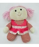 VINTAGE 1979 RUSS BERRIE MUFFY PINK HAIR BABY RAG DOLL STUFFED ANIMAL PL... - $45.82