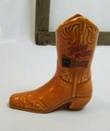 Vintage Bobby Mcgee's Taza de Cerámica Florero de Vaquero Oeste Bota - $23.15