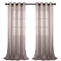 VOILYBIRD Vitoria Semi Sheer Curtains Linen Textured 96 Inches Long for ... - $26.15