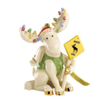Lenox 2012 Moose Marcel Ornament Annual Merry Moose Crossing Caution Sig... - $95.00