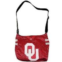 NCAA Oklahoma Sooners Jersey Purse Big Tote Bag -Shoulder Strap New  - $23.71