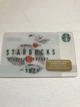 Starbucks Gift Card NEW STARBUCKS COFFEE COMPANY EST 1971 2017 HOLIDAY W... - $1.19