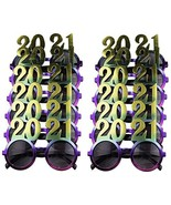 12 Pack of 2021 New Years Eve Party Glasses (Rainbow Metallic) - $31.63