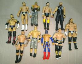 Lot of 10 Mattel 2011 WWE Wrestlers Owens, Riley, Cena, Orton, Kidd and ... - $49.99