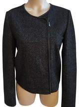 Mango Gray & Black Zip Jacket S - $19.95