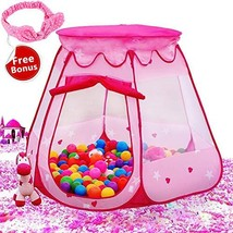 Le Papillon Pink Princess Tent Kids Ball Pit 1st Gift Toddler Girl Easy ... - $25.20