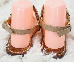SAM EDELMAN Metallic Thong Brown Sandals Size Women's Beaded 8 Flip Buckle Flops HrHq1wg