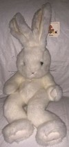 "Unipak Plush Bunny -  White Fuzzy NEW Jointed RETIRED 12"" Stuffed Rabbit... - $9.89"