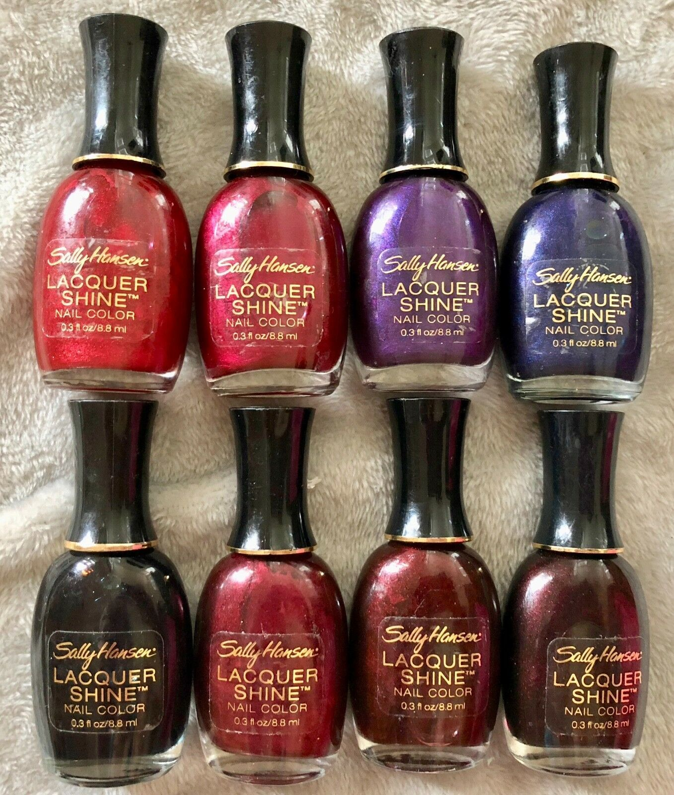 Lot of 8: NEW Sally Hansen Lacquer Shine Nail Color Polish - No Repeats!