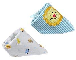 "2 PCs Lovely Cool Lion Saliva Towel Adjustable Baby NeckScarf Neckerchief 1511"""