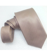 Men's Tie solid brown 100% silk Made in Italy MORGANA new business / wed... - $25.33