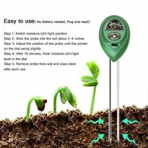 New 3 In 1 Soil PH Meter Moisture/Light/pH Test Acidity Humidity Sunligh... - £11.90 GBP