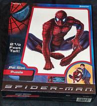 New Sealed Pressman 2002 Spider Man Marvel Movie Pal Size 2 1/2 Feet Puzzle Nib - $15.98