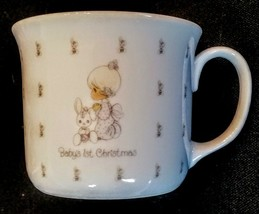 Precious Moments Mug Baby's 1st Christmas China Cup Enesco 1987 Samuel J Butcher - $14.83