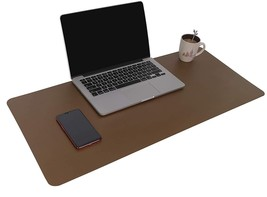 "Multifunctional Office Desk Pad, 31.5"" x 15.7"" Ultra Thin Waterproof PU Leather - $18.80+"