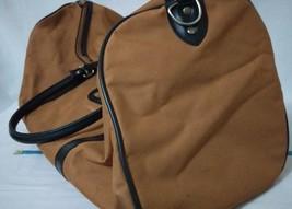 Two Medium Nylon Duffel Bag -Burnt Orange black trim  - $14.03