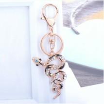 Fashion crystal keychain snake key ring bag pendant charm jewelry - $12.99