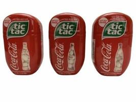 3x NEW Coca-Cola Flavored Tic-Tacs 3.4oz Limited Edition Discontinued  - $24.74