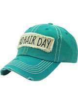 Distressed Vintage Style Bad Hair Day Hat Baseball Cap Runner Active Wear image 14