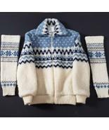Vintage Woolhouse Iceland Wool Knit Jacket & Leg Warmers Large Nordic Sk... - $124.99