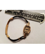 VINTAGE 14KT YELLOW GOLD HAMILTON LONG LUG LADIES WATCH RUNS FOR YOU TO ... - $188.67