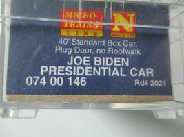 Micro-Trains # 07400146 Joe Biden Presidential 40' Boxcar Road # 2021. N-Scale image 7