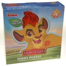 Disney Junior The Lion Guard Furry Puzzle 24 Pieces 12x15 Fur Kids Presc... - $3.99