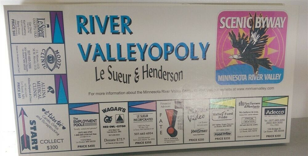 Primary image for River Valleyopoly Board Game Pride Distributors Henderson Minnesota Game