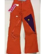 NEW Static Snowboard Pant Orange Purple  Womens XXS / Youth L 10000mm Wa... - $46.53