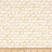 Timeless Treasures Metallic Happily Ever After words cotton fabric by th... - $313,54 MXN