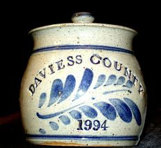 1994 Daviess County Westerwald Pottery/Stoneware Bowl with Lid AA-191827 (2 Piec image 6